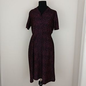Vintage 1980s does 1950s polka dot Day Dress